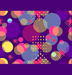 memphis seamless pattern pop art dotted vector image vector image