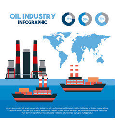 oil industry infographic transport logistics vector image