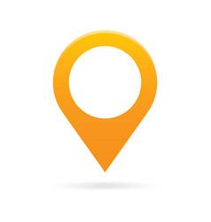 orange map pointer icon marker GPS location flag vector image vector image