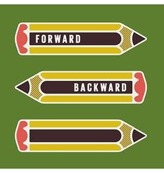 Pencil as indicator vector