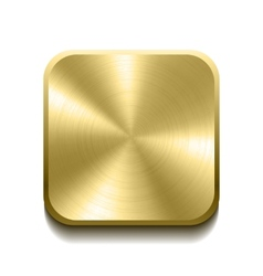Realistic gold button vector image vector image