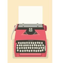 Retro typewriter background vector