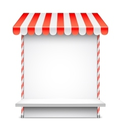 Sale stand with red awning vector