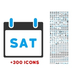 Saturday flat icon vector