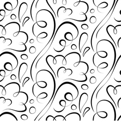 seamless background Backdrop black floral pattern vector image vector image