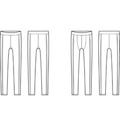 Sport leggings vector