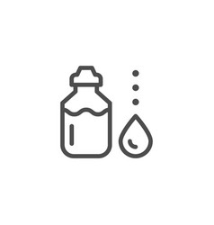sports water bottle line icon vector image vector image