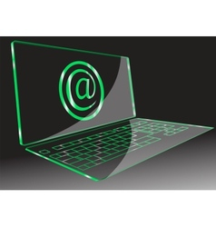 transparent computer vector image