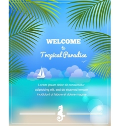tropical paradise background vector image vector image