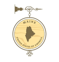 Vintage label Maine vector image