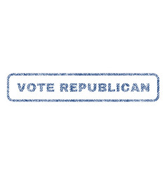 Vote republican textile stamp vector