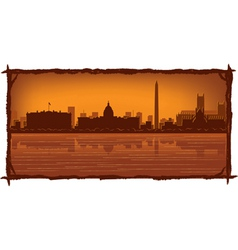 washington skyline vector image
