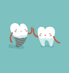 We are dentaltooth and teeth concept of dental vector