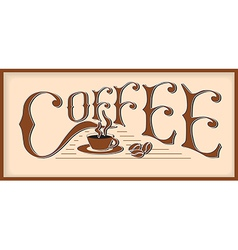 word coffee vector image