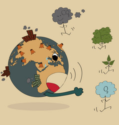World map earth globe for save world vector