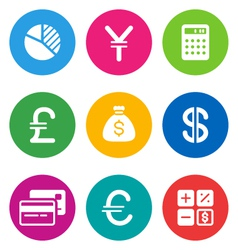 color finance icons vector image