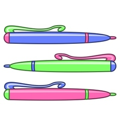 Set of multicoloured pens vector
