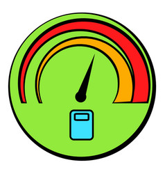 car fuel gauge icon cartoon vector image