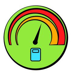 Car fuel gauge icon cartoon vector