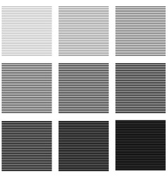 set backgrounds horizontal lines and stripes with vector image
