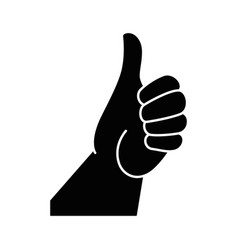 isolated positive hand vector image