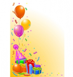 Birthday party background vector