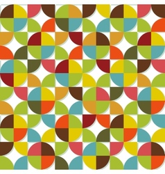 Colorful geometric seamless set vector image