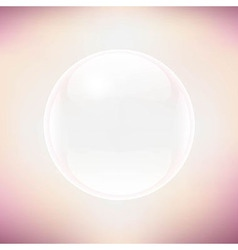 Transparent sphere and pastel background vector