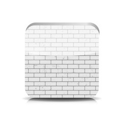 Brick application button vector