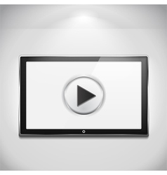Tv with play button vector