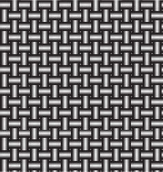 Metal pipe wicker vector