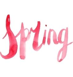 Watercolor spring calligraphy script vector