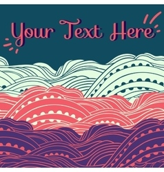 Three waves horizontal pink vector