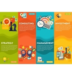 Consulting management investment and strategy vector
