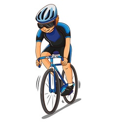 Man athlete riding bicycle vector