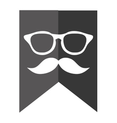 Classic glasses with mustache vector
