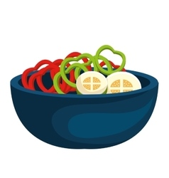 Healthy food preparation isolated icon vector