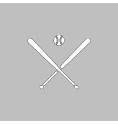 Baseball computer symbol vector