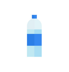 bottle of water icon on isolated background vector image vector image