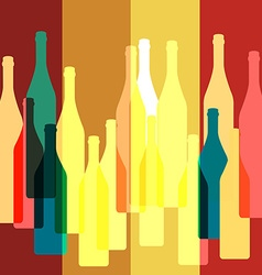 Bottles silhouette background vector image vector image
