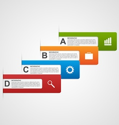 business options infographics vector image