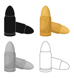 Combat bullets and cartridges of criminals outfit vector