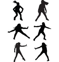 Dance street vector