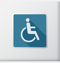 disabled icon sign flat symbol design vector image