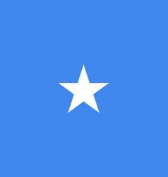 flag federal republic of somalia vector image