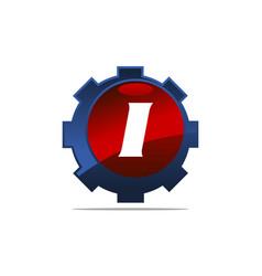 Gear logo letter i vector