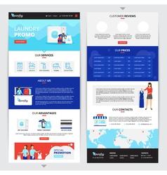 Laundry service web page set vector