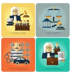 Legal services law and order justice flat vector image
