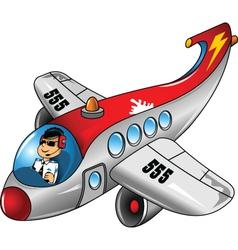 Modern aeroplane vector image