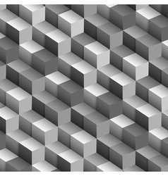 Monochrome background with cubes vector image